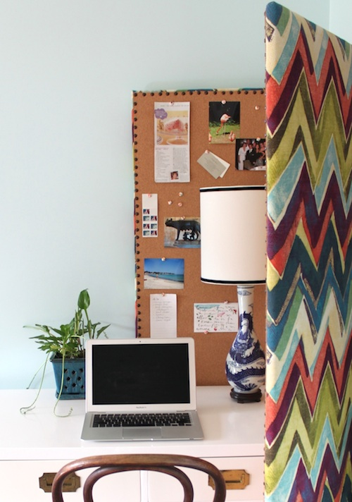 Revitalize Your Home Office Space With Do It Yourself Upholstery U2013 Room  Divider Bulletin Board!